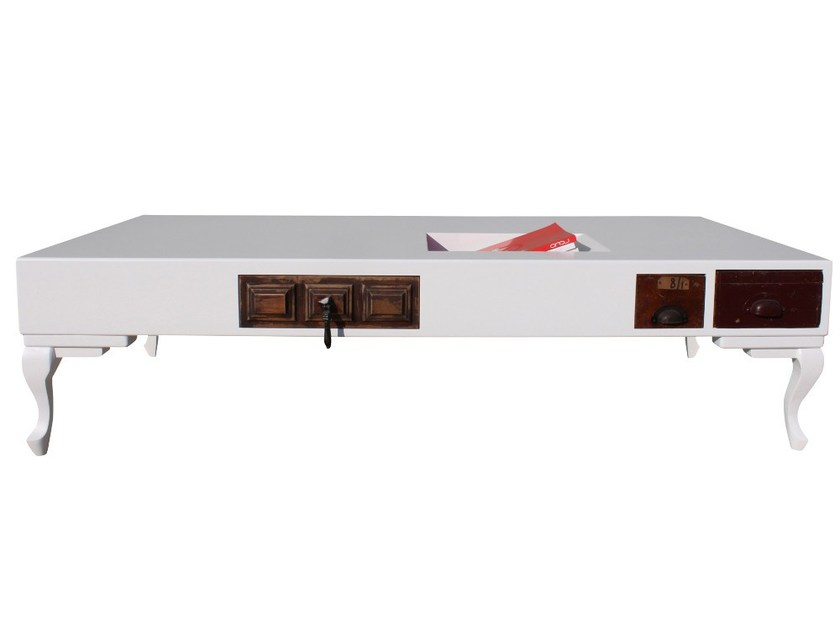 Lacquered rectangular custom coffee table #42 | Coffee table - ICI ET LÀ