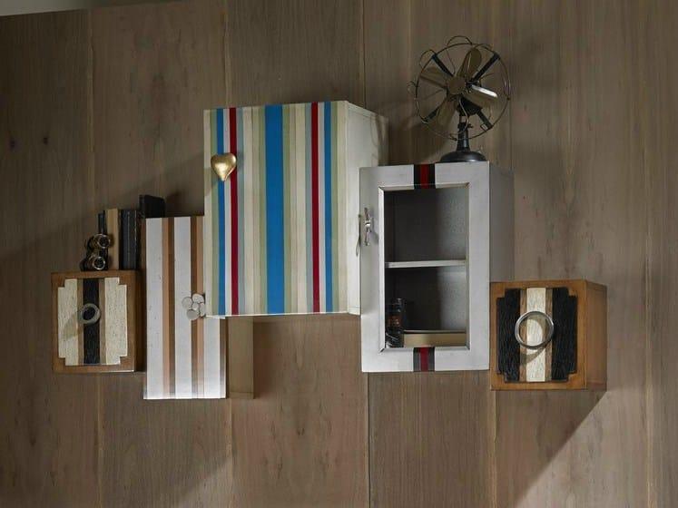 Pensile in legno impiallacciato con anta tetris collezione - Lola glamour mobili ...
