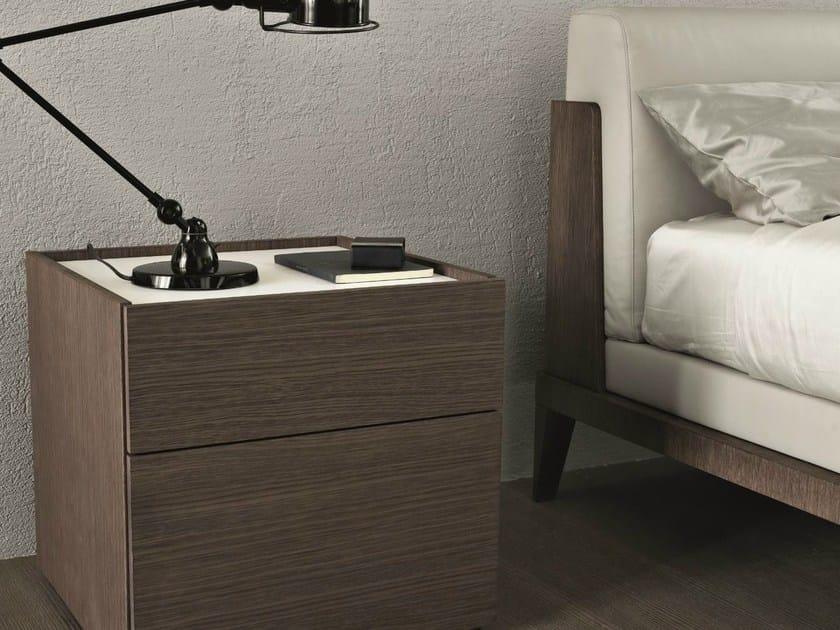 Rectangular oak bedside table CUBE | Bedside table - MisuraEmme