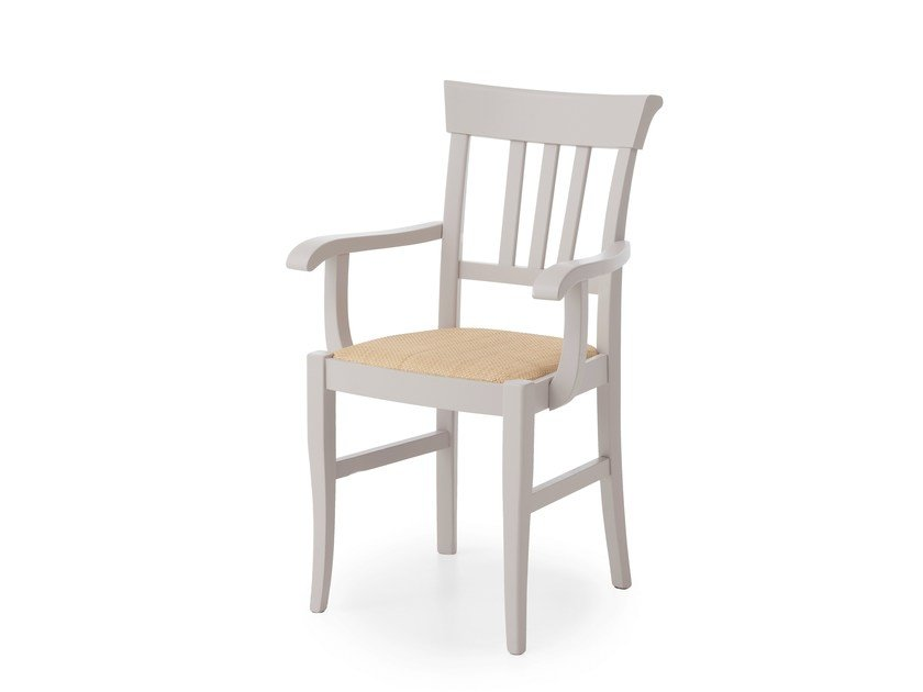 Solid wood chair with armrests LYNTON | Chair with armrests - Minacciolo