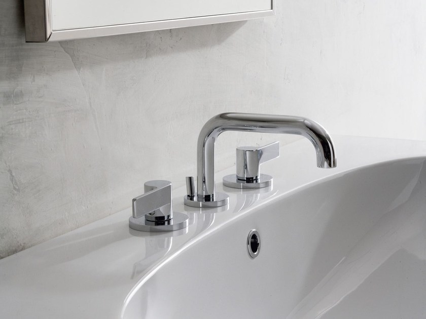 3 hole chrome-plated countertop washbasin tap TERRA | 3 hole washbasin tap - Graff Europe West