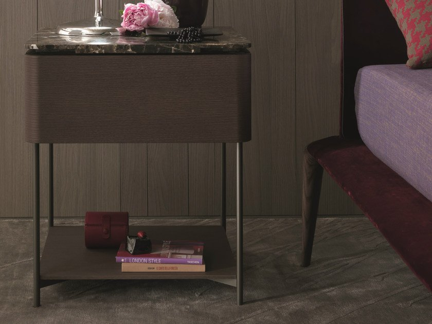 Rectangular bedside table with drawers LINDO | Bedside table - MisuraEmme