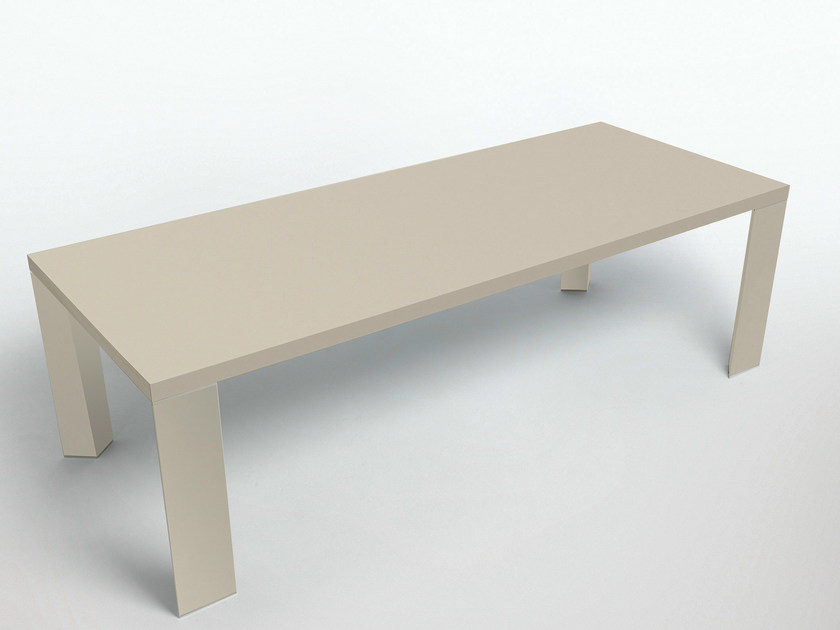 Lacquered rectangular table LONG ISLAND | Lacquered table - MisuraEmme