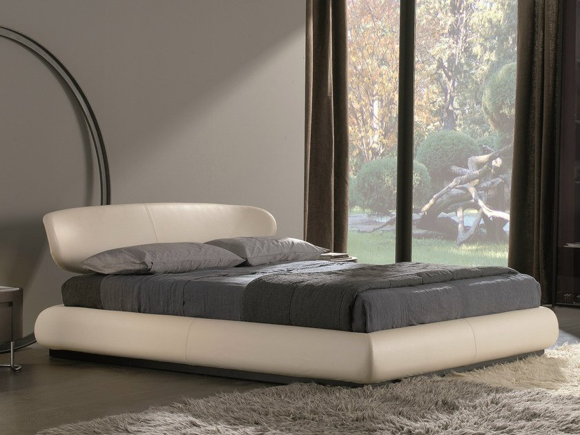 Leather storage bed NUBA | Storage bed - MisuraEmme