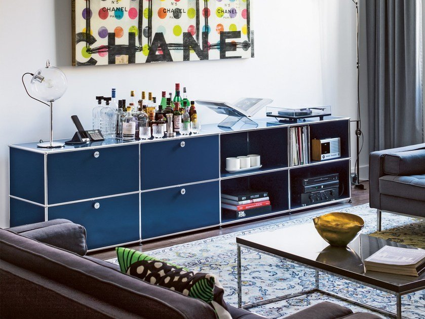 usm haller sideboard for living room meuble de rangement by usm modular furniture. Black Bedroom Furniture Sets. Home Design Ideas