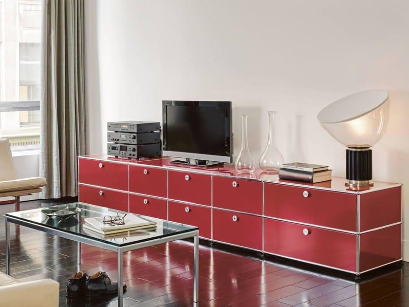 sectional modular metal storage unit usm haller sideboard. Black Bedroom Furniture Sets. Home Design Ideas