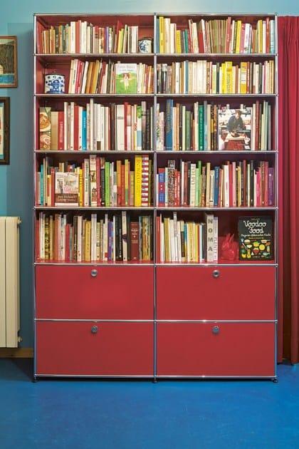 Libreria a giorno componibile in metallo usm haller for Libreria velux