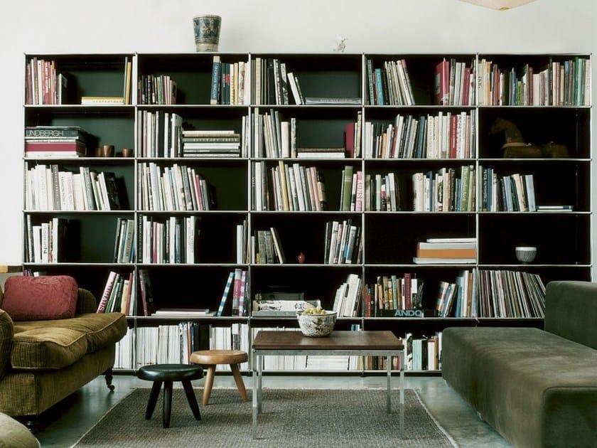 offenes lackiertes regalsystem aus metall kollektion usm. Black Bedroom Furniture Sets. Home Design Ideas