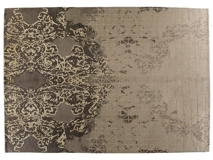 Handmade rectangular rug JARDIN D'HIVER - Golran