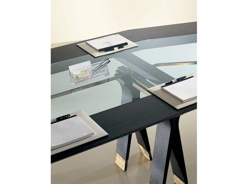 Tavolo ovale in legno e vetro sc1013 a tavolo da - Tavolo ovale vetro ...