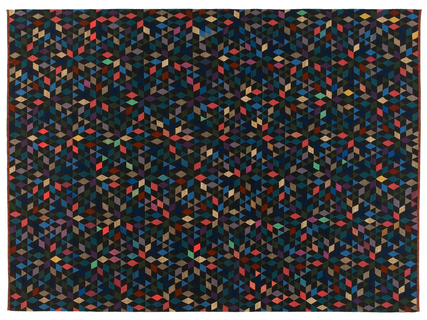 Rectangular rug with geometric shapes DIAMOND BLACK - Golran