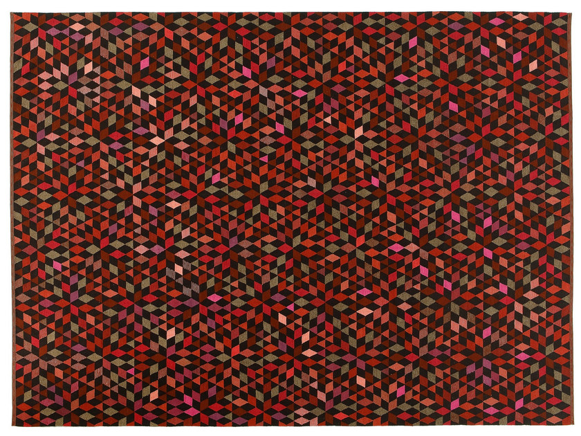 Rectangular wool rug DIAMOND STRAWBERRY - Golran