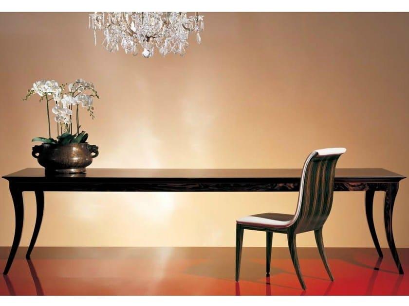 Rectangular wood-bronze table SC1021 - OAK Industria Arredamenti