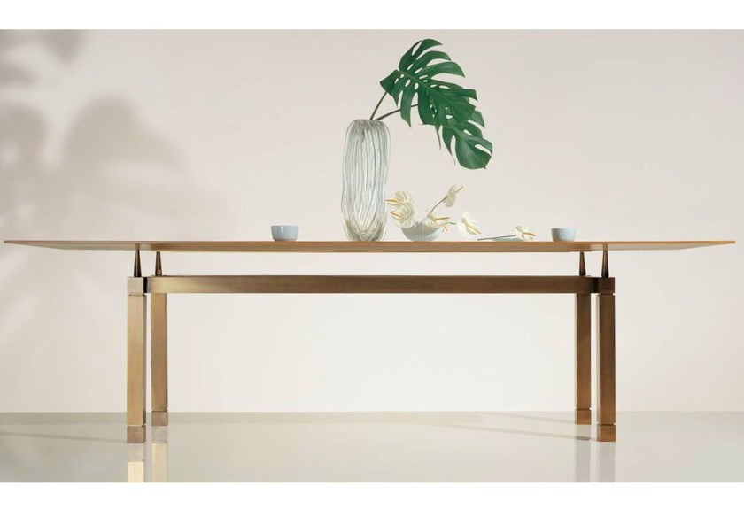 Wood and glass table SC1026 - OAK Industria Arredamenti