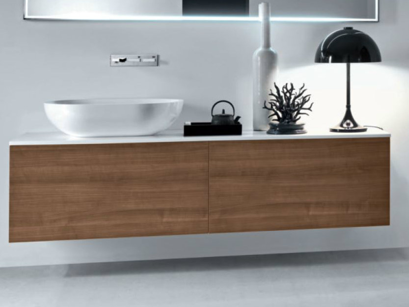 Wall-mounted wooden vanity unit with drawers VIA VENETO | Vanity unit with drawers - FALPER