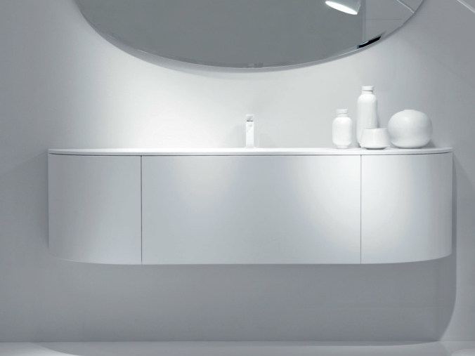 Wall-mounted vanity unit with doors with drawers VIA VENETO | Vanity unit with doors - FALPER