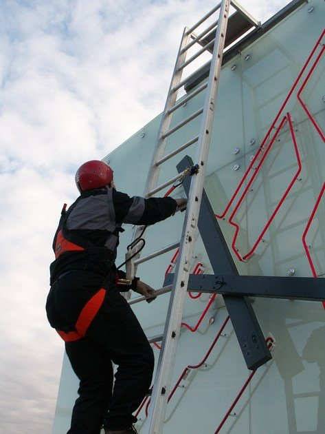 Aluminium heavy duty ladder SAFELADDER® - SOMAIN ITALIA