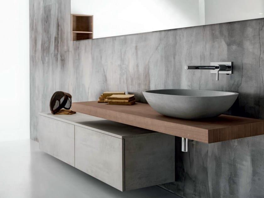 Wall-mounted wooden vanity unit with drawers VIA VENETO | Vanity unit - FALPER