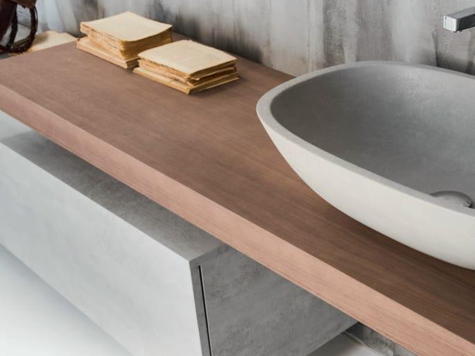 encimera de lavabo simple de madera maciza via veneto encimera de lavabo by falper