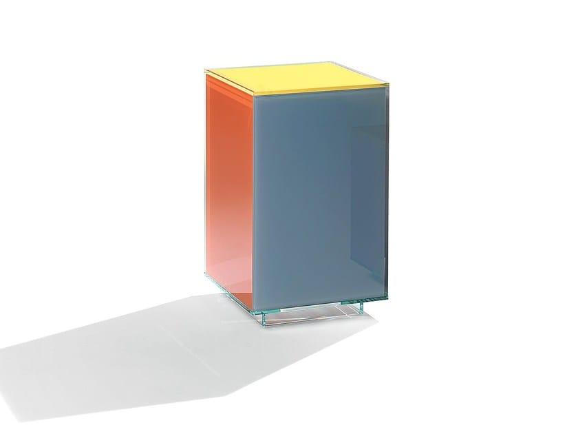 Square glass coffee table CUBICOLOR | Coffee table - Casali