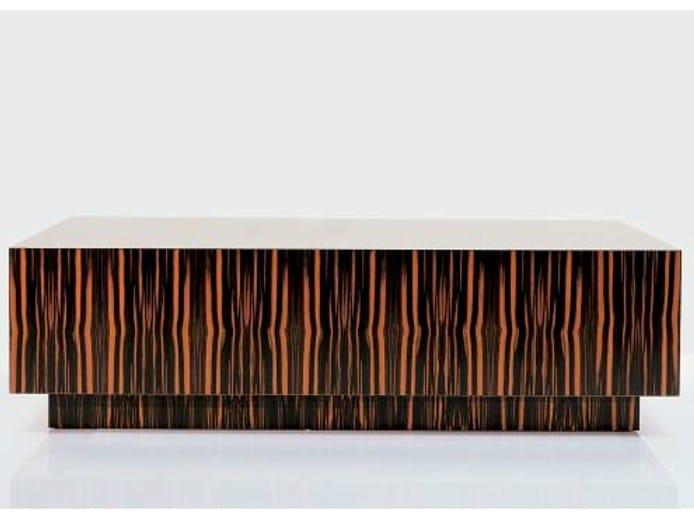 Low wooden coffee table SC 3015/E - OAK Industria Arredamenti