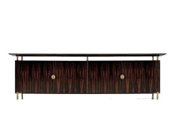 Low wooden office storage unit SC 3005/E - OAK Industria Arredamenti