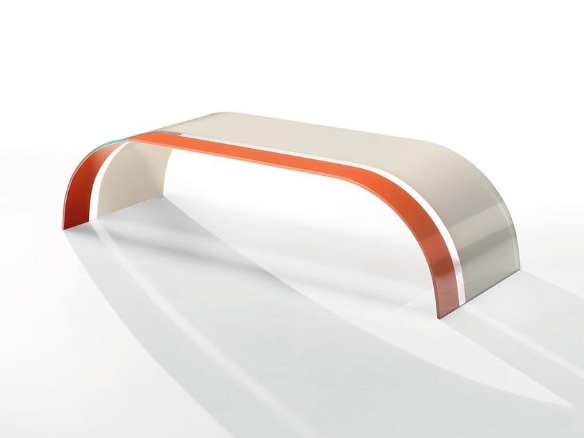 Low rectangular crystal coffee table TWIST BICOLOR - Casali