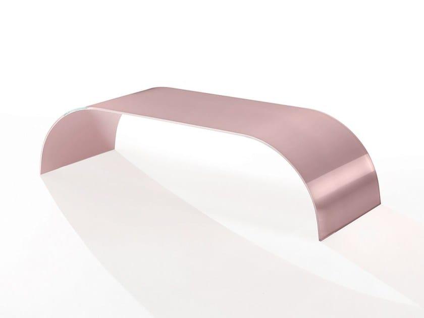 Low rectangular crystal coffee table TWIST MONO - Casali