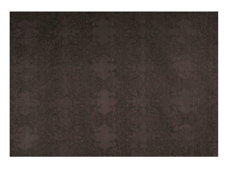 Patterned solid-color handmade rug MEHNDI - Toulemonde Bochart