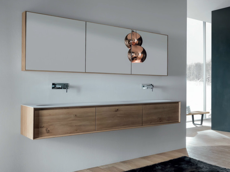 Shape evo meuble sous vasque avec tiroirs by falper design for Design waschtischunterschrank