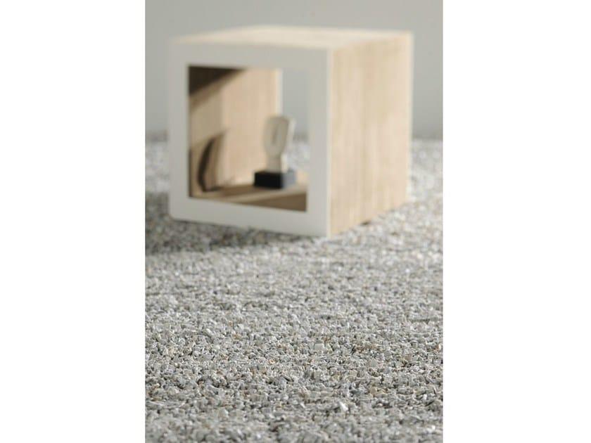 Solid-color rectangular leather rug FEZ - Toulemonde Bochart