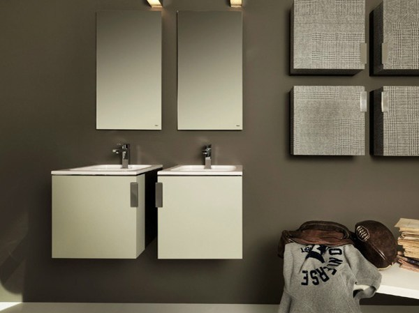 Lacquered wooden vanity unit with doors COLLEGE | Vanity unit with doors - FALPER