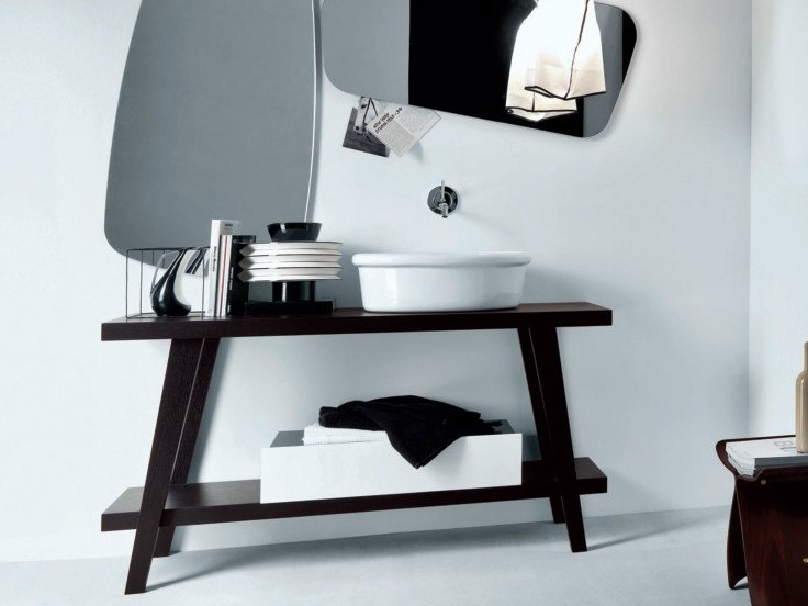 Wooden console sink MENHIR | Lacquered console sink - FALPER
