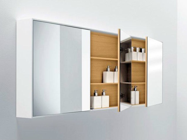 Wall-mounted bathroom mirror with cabinet SHAPE | Mirror with cabinet by FALPER