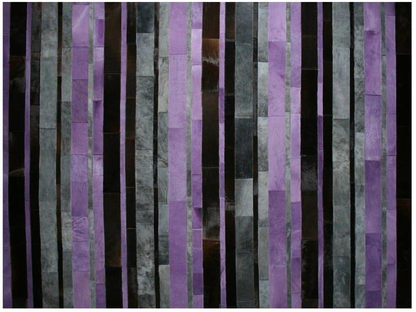 Rectangular striped cowhide rug DYED COWHIDE CARPETS STRIPES   Cowhide rug - EBRU