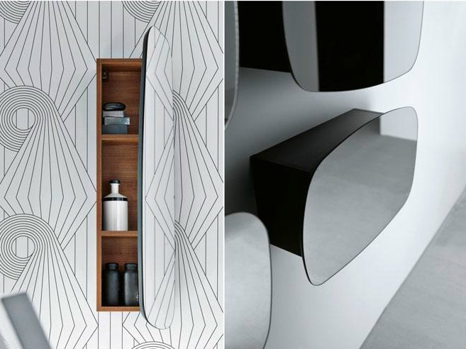specchio con contenitore specchio a parete con contenitore per bagno