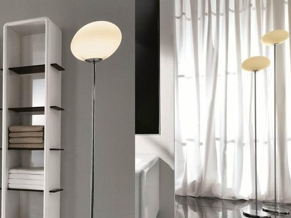 Glass floor lamp for bathroom OVALE | Floor lamp - FALPER