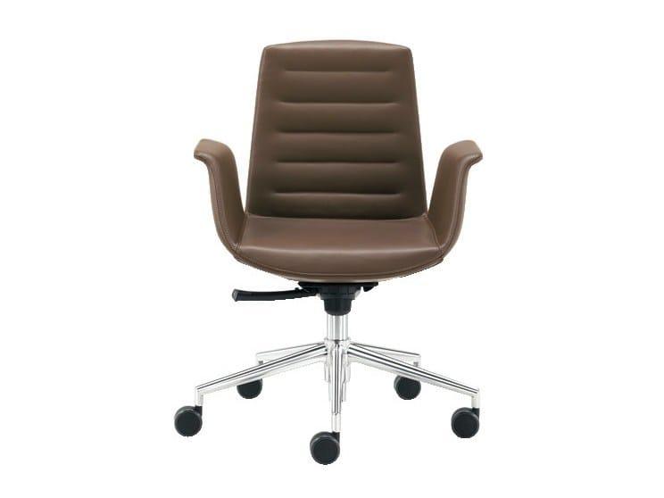 Swivel easy chair with 5-spoke base MODÀ | Easy chair with 5-spoke base - Sesta