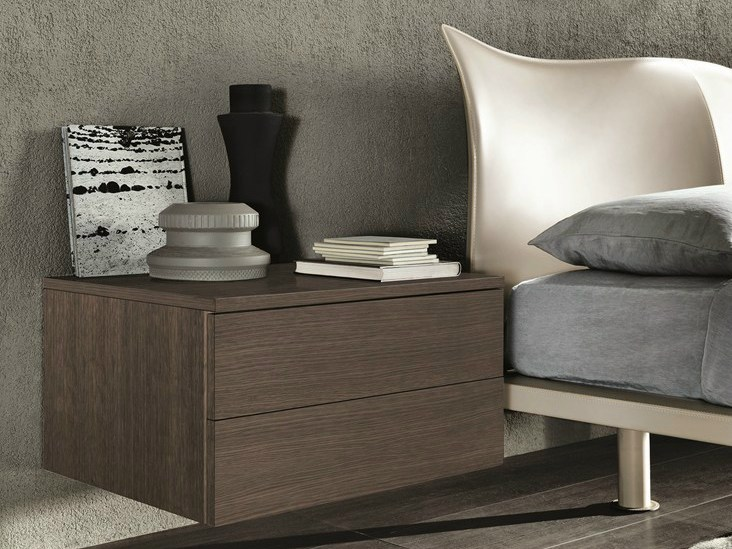 table de nuit rectangulaire suspendue en bois tao night. Black Bedroom Furniture Sets. Home Design Ideas
