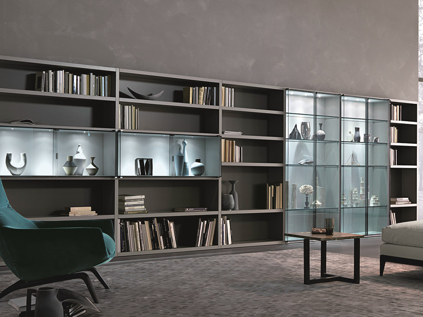 Sectional lacquered storage wall CROSSING TEKA | Sectional storage wall by MisuraEmme