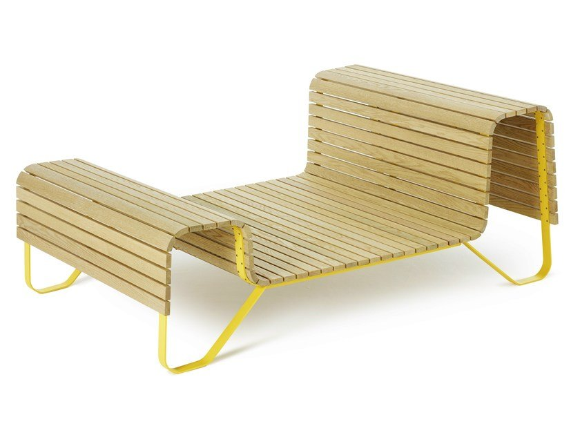 Wooden outdoor chair SUNDAY by Nola Industrier