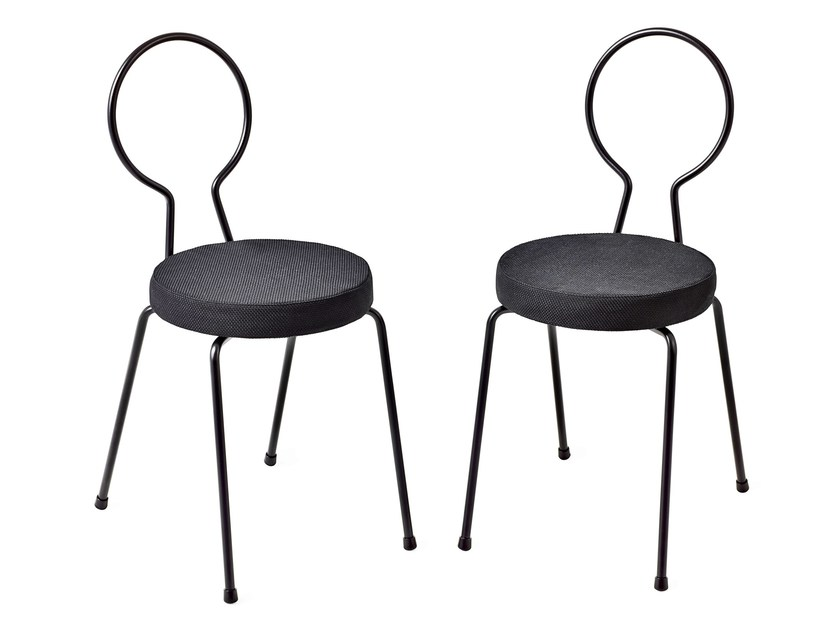 Stackable galvanized steel chair PUCK - Nola Industrier