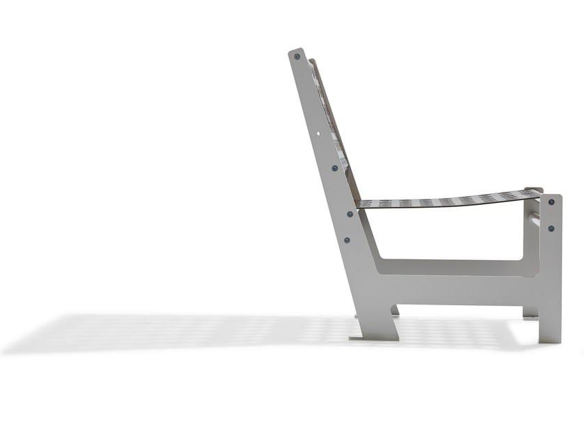 Steel garden armchair with armrests LOOMCHAIR   Garden armchair - Nola Industrier
