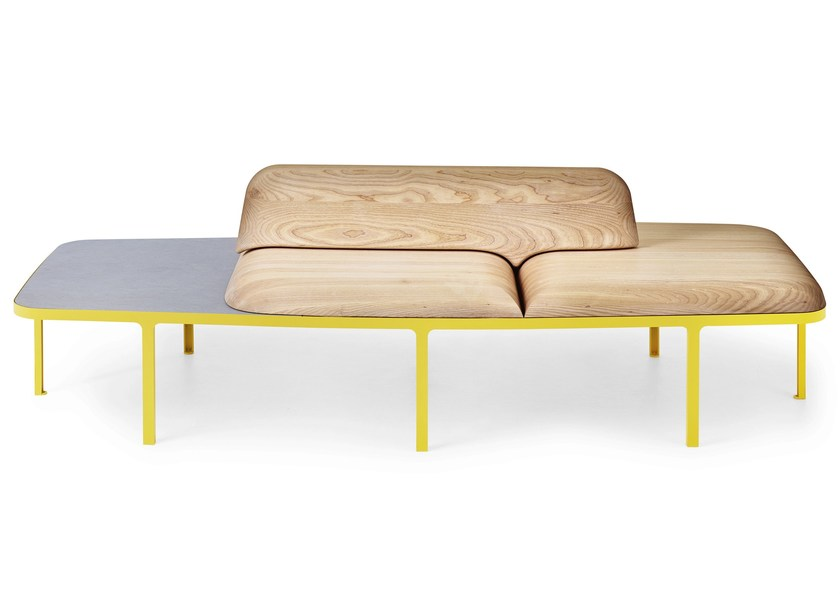 Bench seating with back PLYMÅ - Nola Industrier
