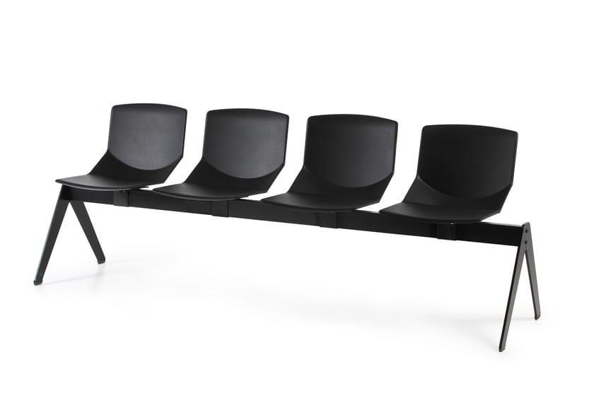 Polyurethane beam seating FORMULA BENCH - AREA DECLIC
