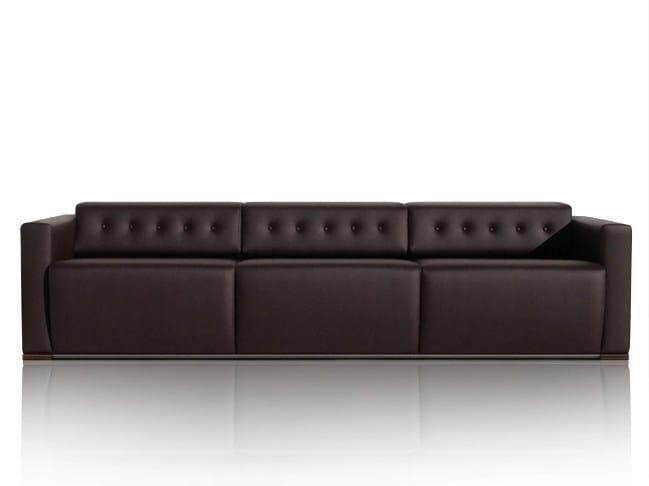 3 seater leather sofa WILLIAMS | Sofa - JOSE MARTINEZ MEDINA
