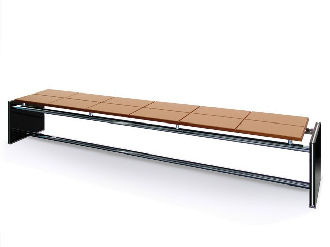 Steel and wood bench / side table CRUNCH by JOSE MARTINEZ MEDINA