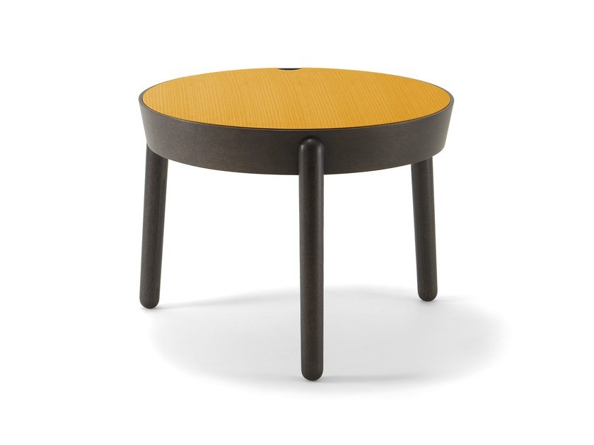 Low round wooden coffee table COCOON | Coffee table - CIZETA