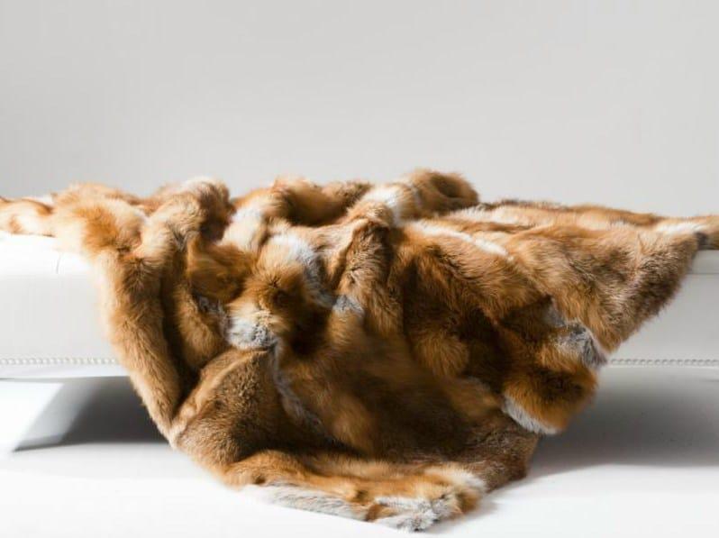 Fox fur rug / lap robe FOX CARPETS AND PLAIDS - EBRU