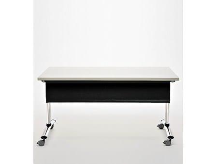 Tavolo da riunione pieghevole con ruote go meet tavolo da riunione sesta - Tavolo pieghevole con maniglia ...